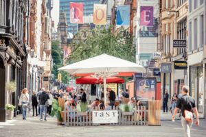 people dining on king street manchester
